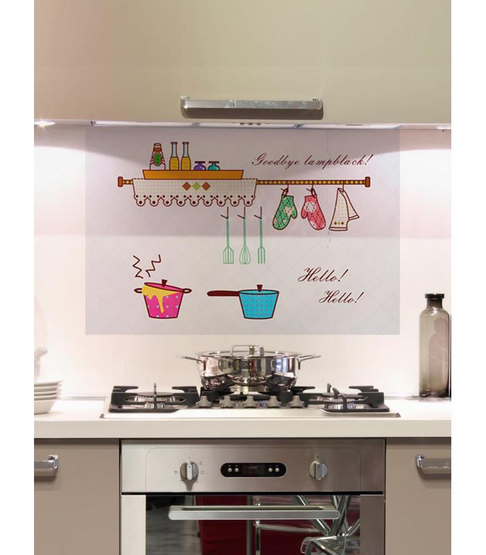Стикер фолио за кухня - предпазващ от мазните пръски - 6