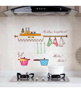 Стикер фолио за кухня - предпазващ от мазните пръски - 2