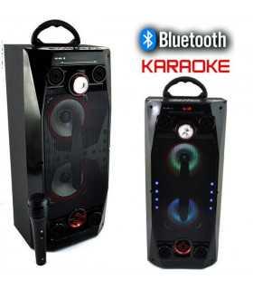 Kараоке колона с микрофон, Bluetooth и флашка QS-36 - 1