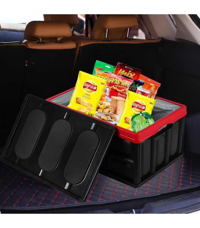 Сгъваем пластмасов органайзер за багажник на кола - 1