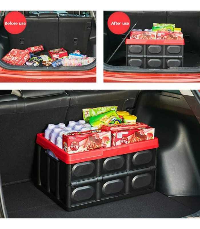 Сгъваем пластмасов органайзер за багажник на кола - 2