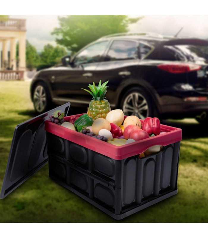 Сгъваем пластмасов органайзер за багажник на кола - 7