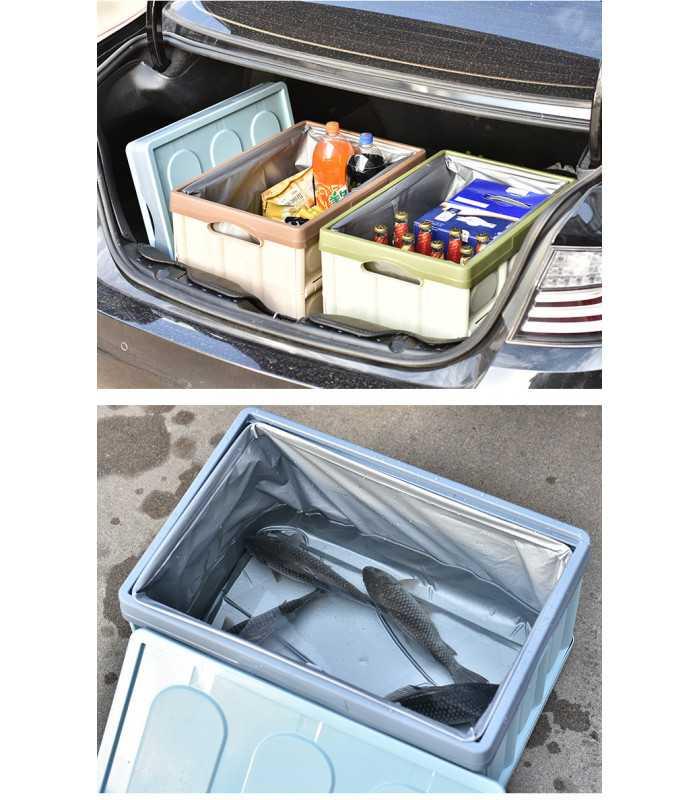Сгъваем пластмасов органайзер за багажник на кола - 9