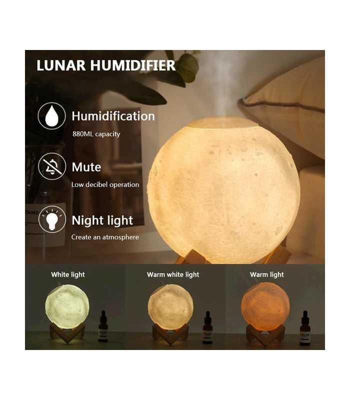 3D дифузер Луна със стойка - 8