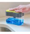 2 в 1 диспенсър за препарат за миене с кухненска гъба