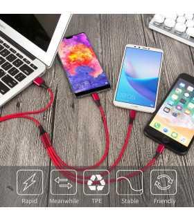 3в1 USB зарядно за телефон/смартфон - 2