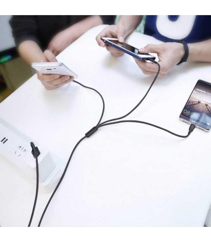 3в1 USB зарядно за телефон/смартфон - 3
