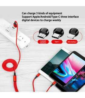 3в1 USB зарядно за телефон/смартфон - 6