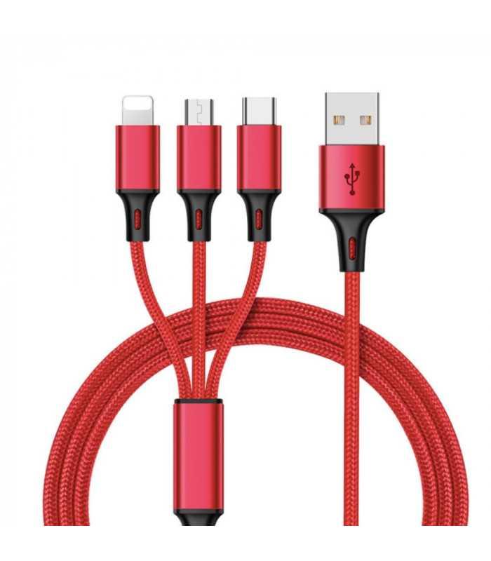3в1 USB зарядно за телефон/смартфон - 1