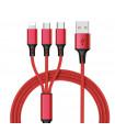 3в1 USB зарядно за телефон/смартфон