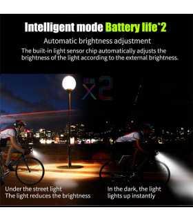 Акумулаторен фар за велосипед с 2бр Т6 диода и звънец - 11