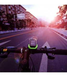 Акумулаторен фар за велосипед с 2бр Т6 диода и звънец - 7
