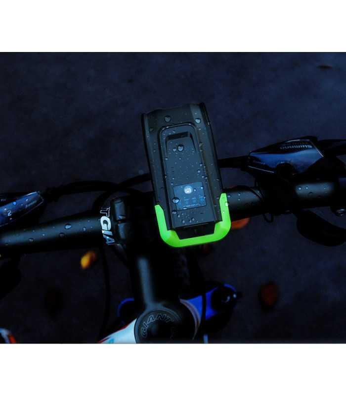 Акумулаторен фар за велосипед с 2бр Т6 диода и звънец - 8