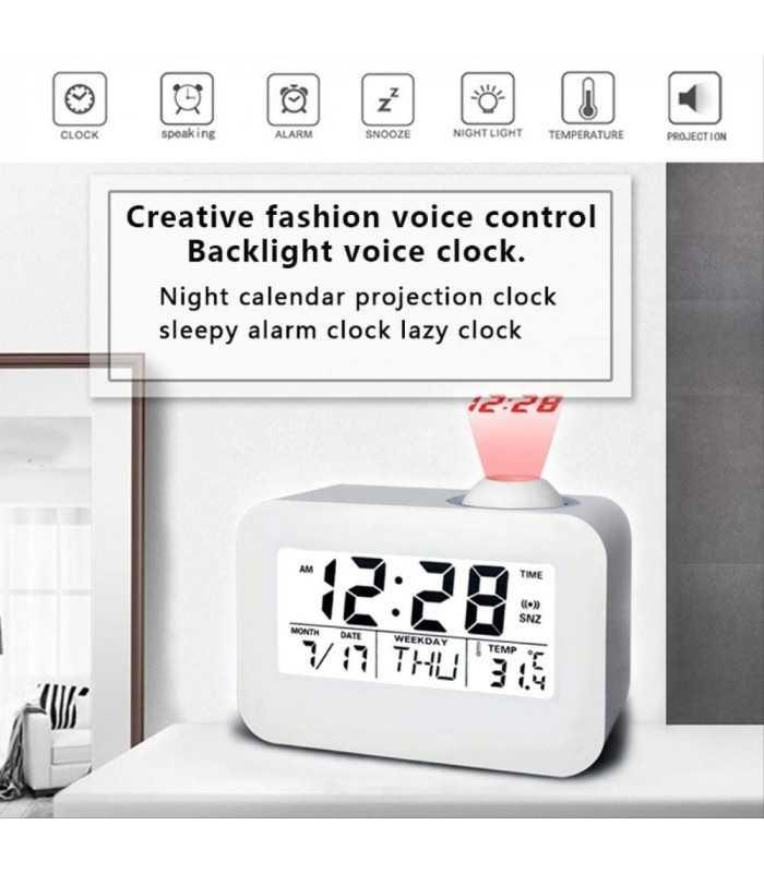 Часовник с проекция на час и активиране чрез пляскане - 4