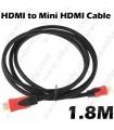 mini HDMI - HDMI кабел 1.8M 1080P V1.4