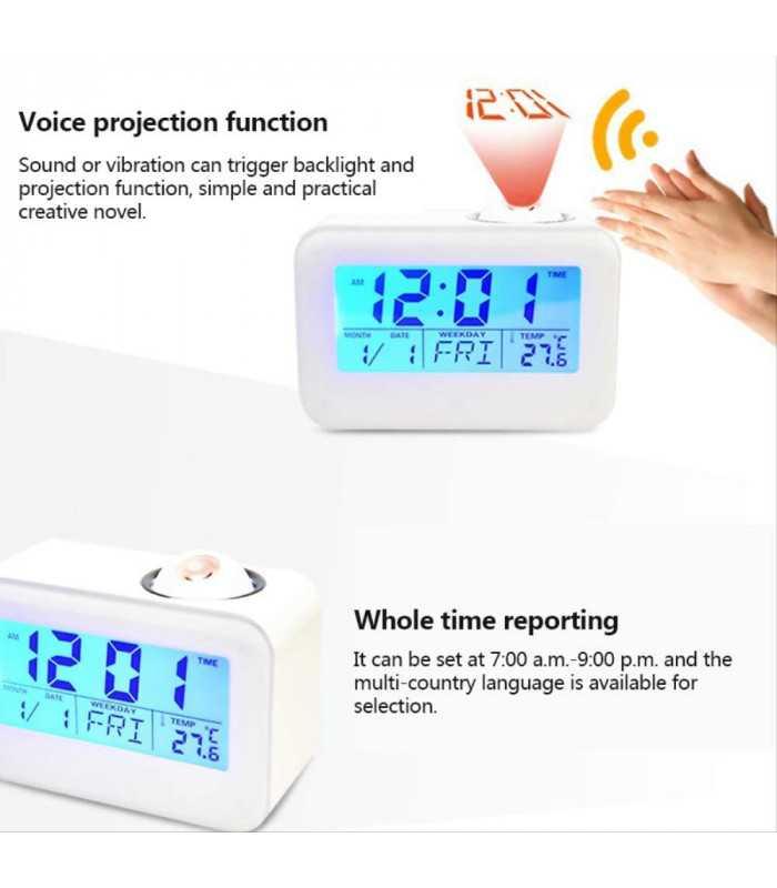 Часовник с проекция на час и активиране чрез пляскане - 2