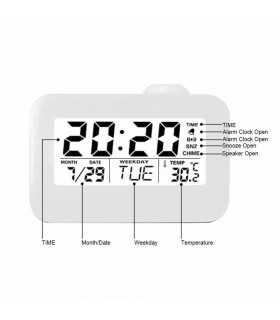 Часовник с проекция на час и активиране чрез пляскане - 7