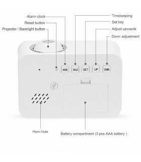 Часовник с проекция на час и активиране чрез пляскане - 8