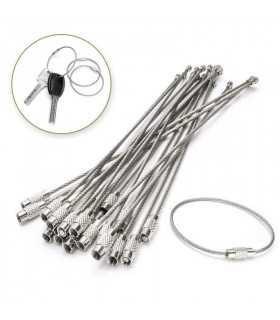 Стоманено въже халка за ключодържател - 1