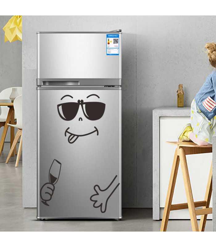 Забавен усмихнат стикер за хладилник - 8