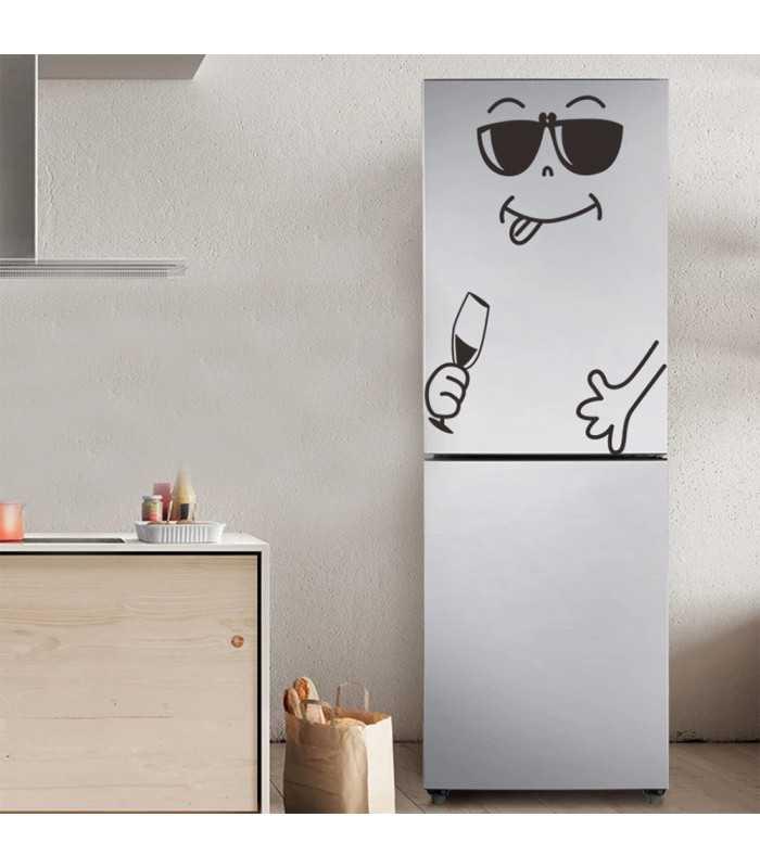 Забавен усмихнат стикер за хладилник - 5