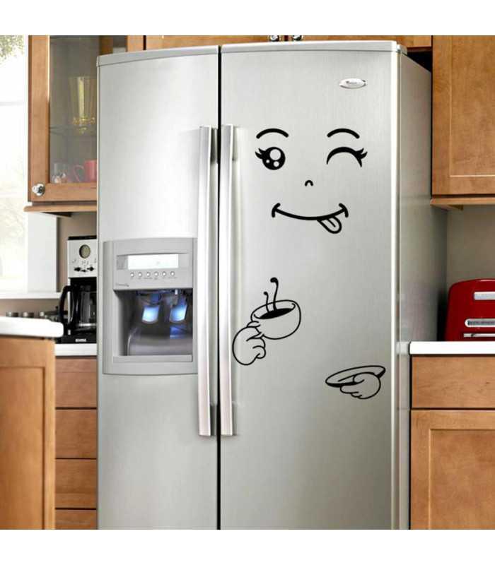 Забавен усмихнат стикер за хладилник - 6