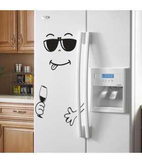 Забавен усмихнат стикер за хладилник - 4