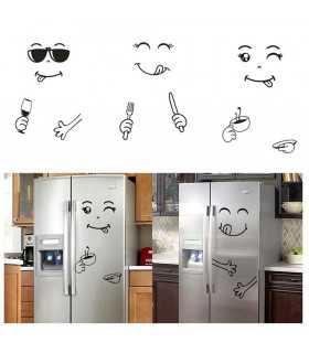 Забавен усмихнат стикер за хладилник - 1