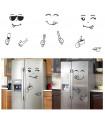 Забавен усмихнат стикер за хладилник