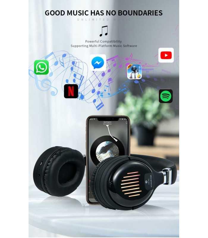 Безжични Bluetooth стерео геймърски слушалки с еквалайзер - 5