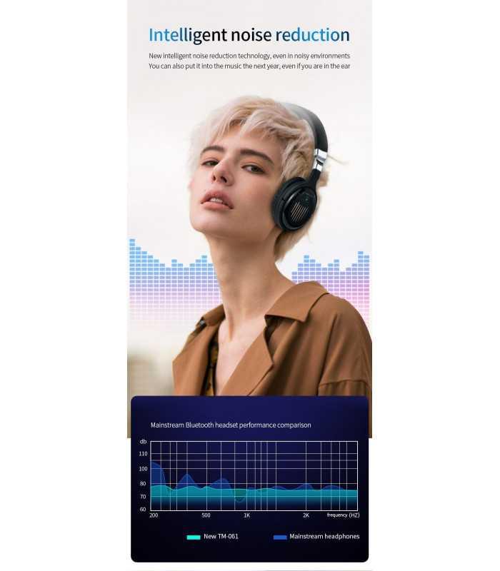 Безжични Bluetooth стерео геймърски слушалки с еквалайзер - 8