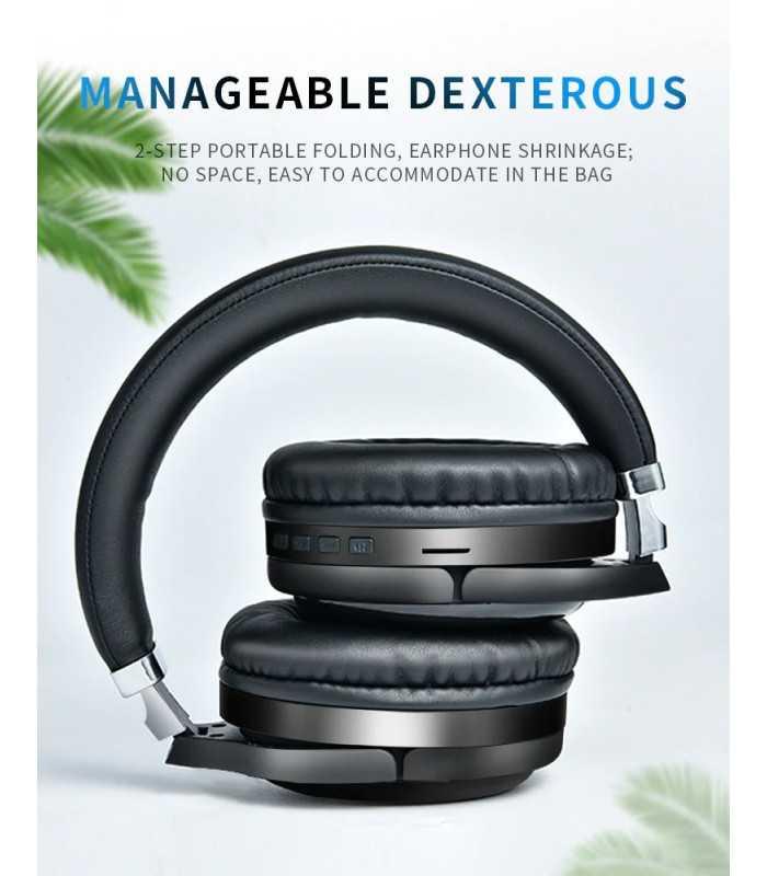 Безжични Bluetooth стерео геймърски слушалки с еквалайзер - 10