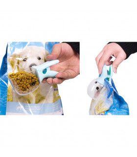 2 в 1 мерителна лъжичка и щипка за кучешка храна - 7