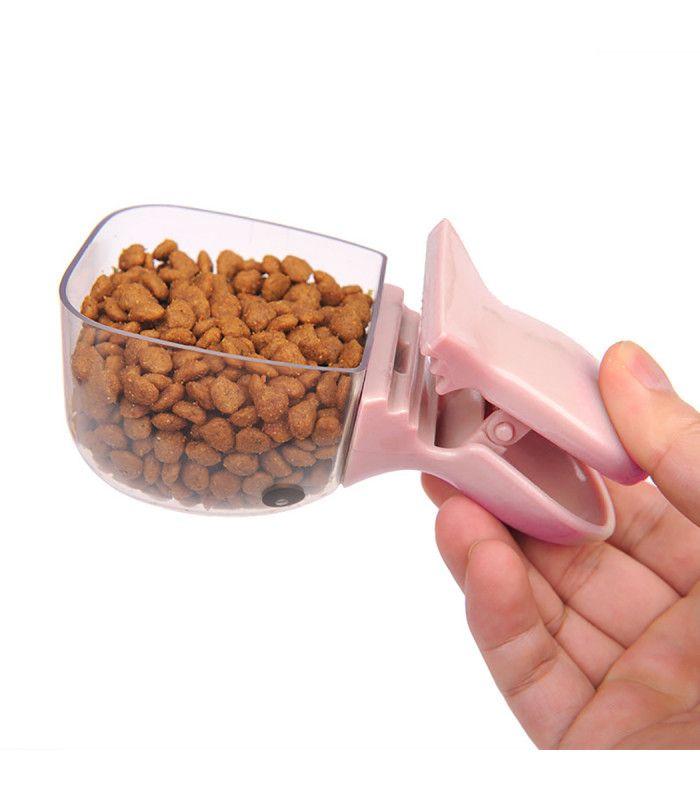 2 в 1 мерителна лъжичка и щипка за кучешка храна - 5