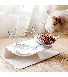 Двойна купа за храна на котки - 5