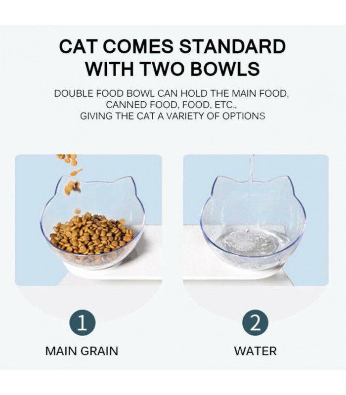 Двойна купа за храна на котки - 9
