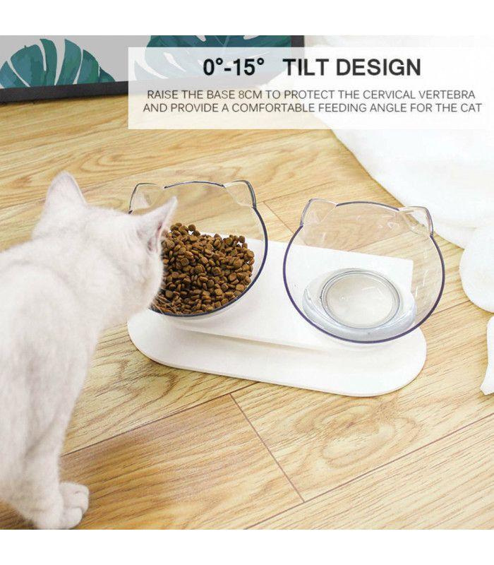 Двойна купа за храна на котки - 10