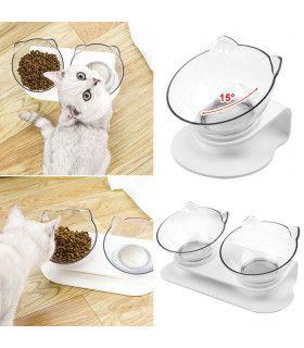 Двойна купа за храна на котки - 11