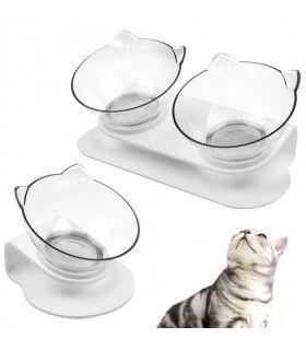 Двойна купа за храна на котки - 12
