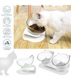 Двойна купа за храна на котки - 2