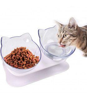 Двойна купа за храна на котки - 1