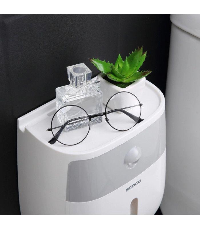 Поставка за тоалетна хартия и телефон - 4