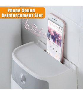 Поставка за тоалетна хартия и телефон - 2