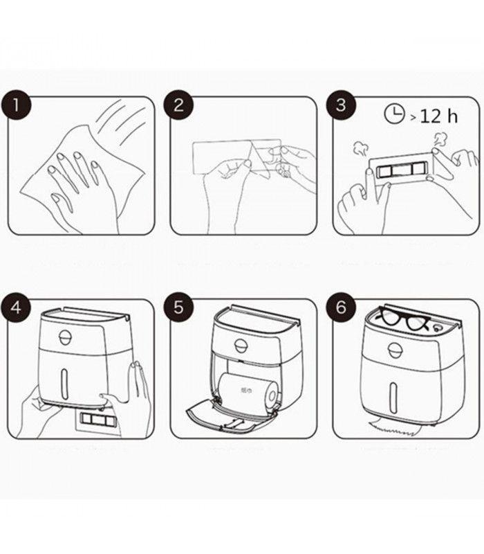 Поставка за тоалетна хартия и телефон - 14