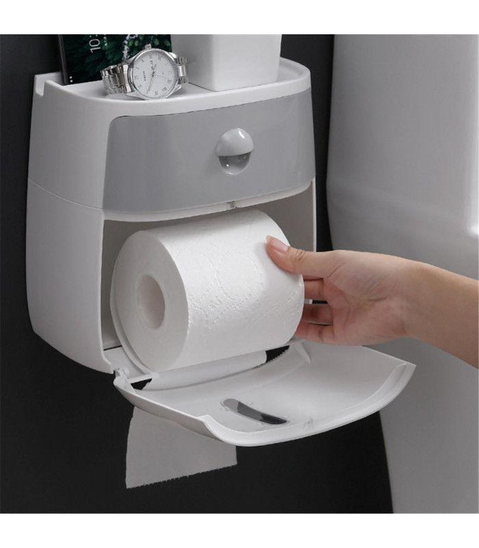 Поставка за тоалетна хартия и телефон - 7