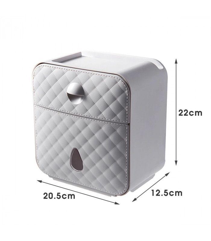 Водоустойчива поставка за тоалетна хартия с рафт и чекмедже - 10