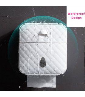 Водоустойчива поставка за тоалетна хартия с рафт и чекмедже - 7