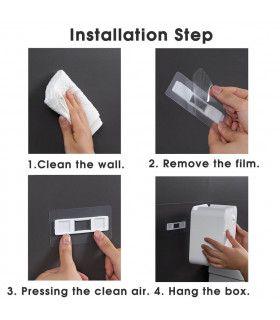 Водоустойчива поставка за тоалетна хартия с рафт и чекмедже - 11