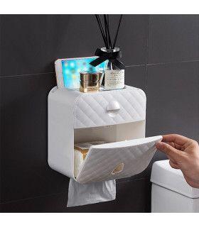 Водоустойчива поставка за тоалетна хартия с рафт и чекмедже - 5