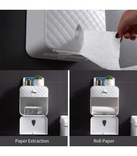 Водоустойчива поставка за тоалетна хартия с рафт и чекмедже - 9